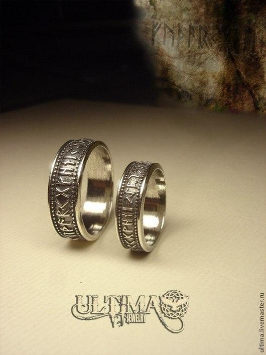 """Кольца ручной работы. Ярмарка Мастеров - ручная работа. Купить Кольцо """"Руны"""". Handmade. Серебряный, руны, кольцо с рунами, викинги"""