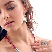 Earrings handmade. Livemaster - original item Earrings Malevka. Handmade.