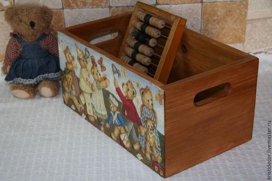 """Детская ручной работы. Ярмарка Мастеров - ручная работа. Купить По мотивам:  Короб для игрушек """"Teddy Bears"""". Handmade."""
