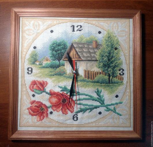 Часы для дома ручной работы. Ярмарка Мастеров - ручная работа. Купить картина, часы. Handmade. Комбинированный, часы, для дома и интерьера