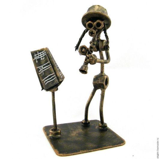 Миниатюрные модели ручной работы. Ярмарка Мастеров - ручная работа. Купить Еврей - кларнетист. Handmade. Скульптурная миниатюра, сувениры и подарки