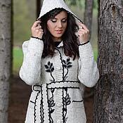 Одежда ручной работы. Ярмарка Мастеров - ручная работа Пальто вязаное 14WJ11. Handmade.