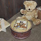 """Для дома и интерьера ручной работы. Ярмарка Мастеров - ручная работа Шкатулка """"Teddy"""". Handmade."""