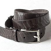 Аксессуары handmade. Livemaster - original item Brown leather Belt for men 1.3 inches wide.. Handmade.