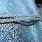 Аксессуары ручной работы. Ярмарка Мастеров - ручная работа Платок бактус шерстяной шелковый двусторонний Серебро голубой. Handmade.