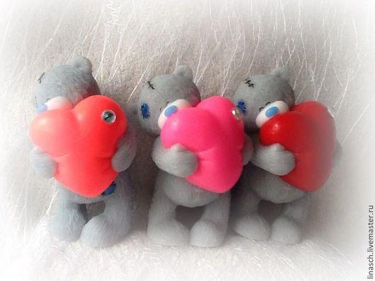 Мыло ручной работы. Ярмарка Мастеров - ручная работа. Купить Мишутка с сердцем. Handmade. Ярко-красный, мишка в подарок, сердце