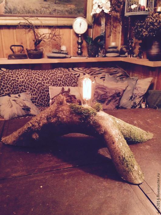 """Освещение ручной работы. Ярмарка Мастеров - ручная работа. Купить Настольная лампа """"Мишкина лампа"""". Handmade. Коричневый, рождество"""