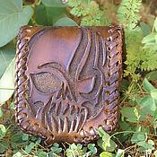 Сумки и аксессуары handmade. Livemaster - original item Handmade wallet with skull. Handmade.