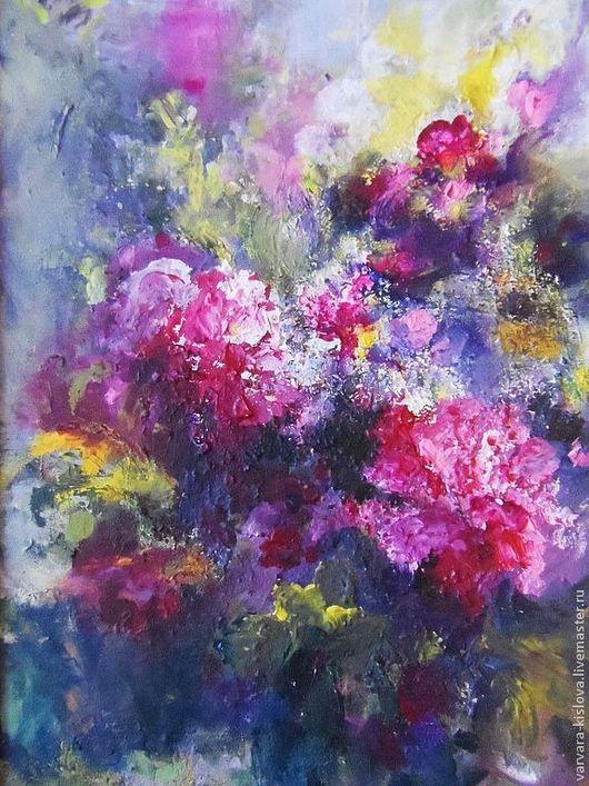 """Картины цветов ручной работы. Ярмарка Мастеров - ручная работа. Купить """"Букет"""". Handmade. Букет, цветы, лето, холст, акрил"""