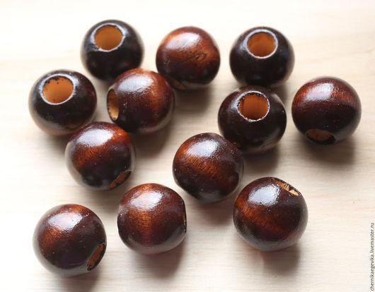 Для украшений ручной работы. Ярмарка Мастеров - ручная работа. Купить Деревянные бусины, 22 мм. Handmade. Натуральное дерево