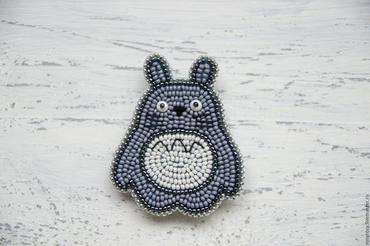 """Броши ручной работы. Ярмарка Мастеров - ручная работа. Купить Брошь Тоторо Брошка из бисера """"Totoro"""". Handmade. Тоторо брошь"""
