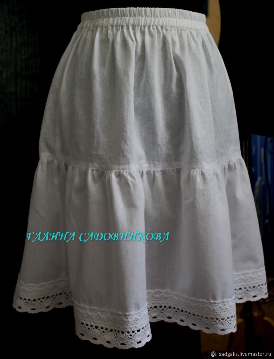 The underskirt is made of cotton, Skirts, Borskoye,  Фото №1