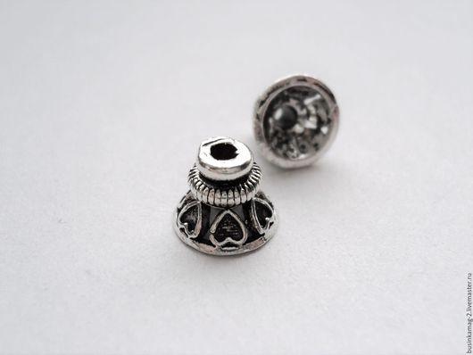 Для украшений ручной работы. Ярмарка Мастеров - ручная работа. Купить Шапочки конусы серебро 925 проба, 10мм. Handmade.