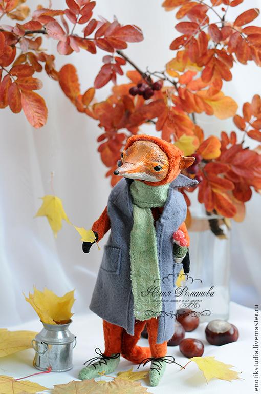 Мишки Тедди ручной работы. Ярмарка Мастеров - ручная работа. Купить лис Дух осени. Handmade. Рыжий, лисичка, шерсть