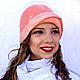 """Шляпы ручной работы. Ярмарка Мастеров - ручная работа. Купить Валяная шляпка """"Девушка с персиками"""". Handmade. Кремовый, шляпа"""