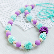 Одежда handmade. Livemaster - original item Slingobusy mint-purple with silicone beads. Handmade.