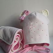 Работы для детей, ручной работы. Ярмарка Мастеров - ручная работа Комплект шапка и шарф для девочки. Handmade.