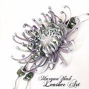 Украшения handmade. Livemaster - original item Jewelry sets: Pearl chrysanthemum on the with pendant. Handmade.