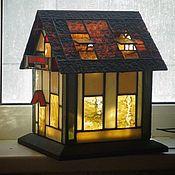 Для дома и интерьера ручной работы. Ярмарка Мастеров - ручная работа Витражный домик. Handmade.
