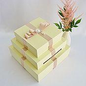 """Свадебная коробка-казна """"Ваниль"""""""