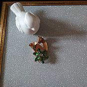 Винтаж handmade. Livemaster - original item Brooch with green rhinestones. Handmade.