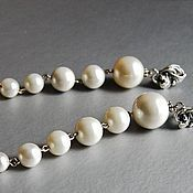 Свадебный салон handmade. Livemaster - original item Long earrings with pearls. Handmade.