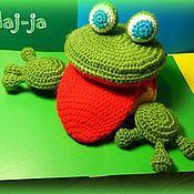 """Куклы и игрушки ручной работы. Ярмарка Мастеров - ручная работа Вязаная """"логопедическая"""" лягушка. Handmade."""