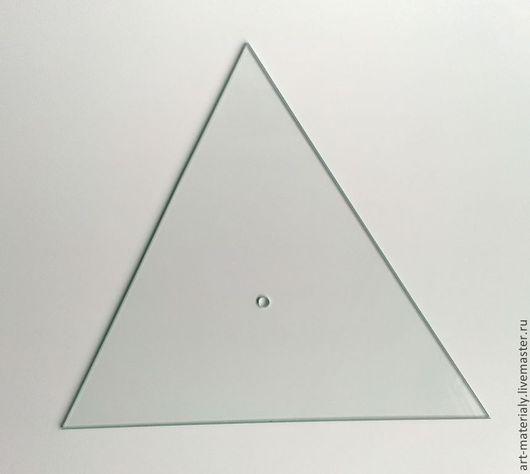 Декупаж и роспись ручной работы. Ярмарка Мастеров - ручная работа. Купить Стекло треугольник 32 см сторона 4 мм толщина. Handmade.