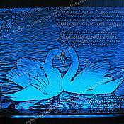 Подарки к праздникам ручной работы. Ярмарка Мастеров - ручная работа Сувенир с подсветкой. Лебединая верность. Handmade.