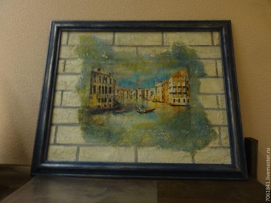 """Город ручной работы. Ярмарка Мастеров - ручная работа. Купить Картина - фреска """"Венеция"""". Handmade. Картина, подарок мужчине"""