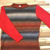 Одежда ручной работы. Ярмарка Мастеров - ручная работа Джемпер  мужской вязаный  Дороги радости. Handmade.