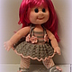 Человечки ручной работы. Вязаная кукла Лора.. IRINA KOREN. Ярмарка Мастеров. Подарок, ресницы искусственные