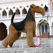 Куклы и игрушки ручной работы. Ярмарка Мастеров - ручная работа Меховая модель собака терьер, шнауцер и др. Handmade.
