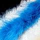 Шитье ручной работы. Боа из пуха, цвет голубой. ФУТКА  - Фурнитура и ткани, Юлия. Интернет-магазин Ярмарка Мастеров. Боа