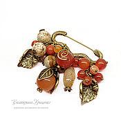 Украшения handmade. Livemaster - original item Brooch pin with pendants. Brooch pin decorative Autumn. Handmade.