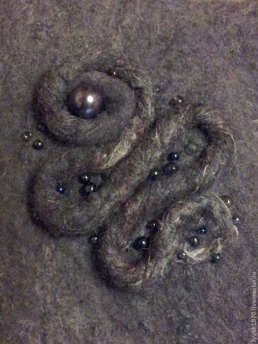 Варежки, митенки, перчатки ручной работы. Ярмарка Мастеров - ручная работа. Купить Варежки темно-серые. Handmade. Темно-серый