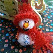Куклы и игрушки ручной работы. Ярмарка Мастеров - ручная работа Снеговик из мохера с люрексом.. Handmade.