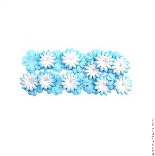 Открытки и скрапбукинг ручной работы. Ярмарка Мастеров - ручная работа. Купить Набор цветков из шелковичной бумаги 300803 Голубой. Handmade.