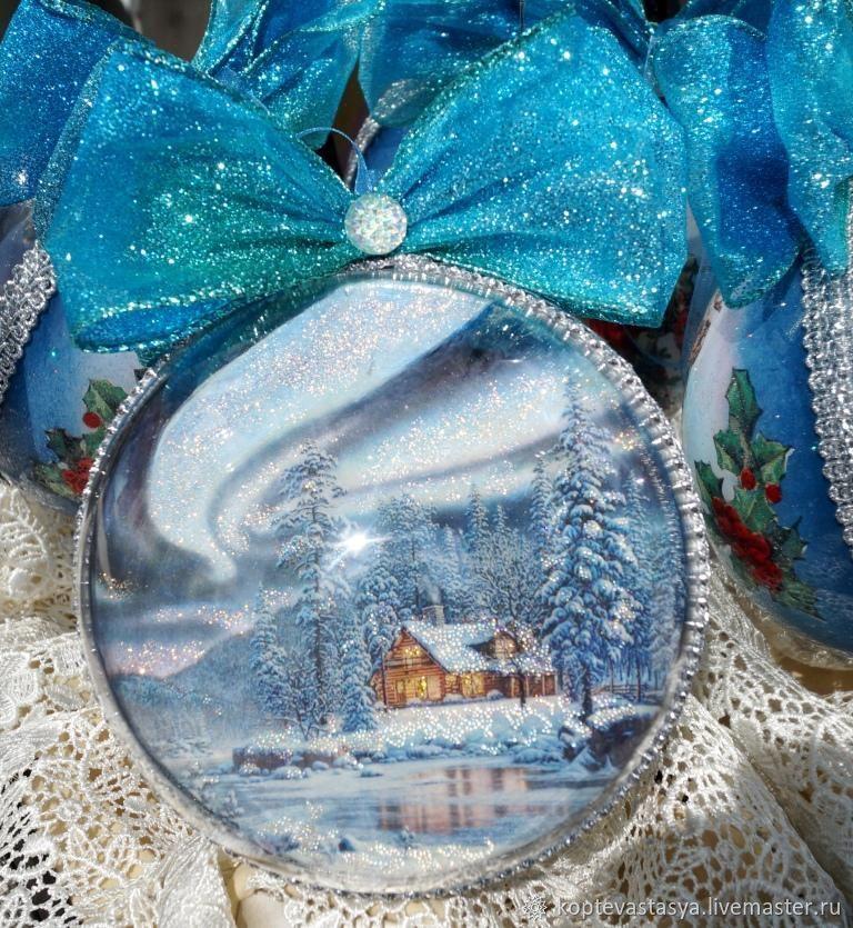 "Новогодний елочный шар ""Домик Деда Мороза"", Шарики, Москва, Фото №1"