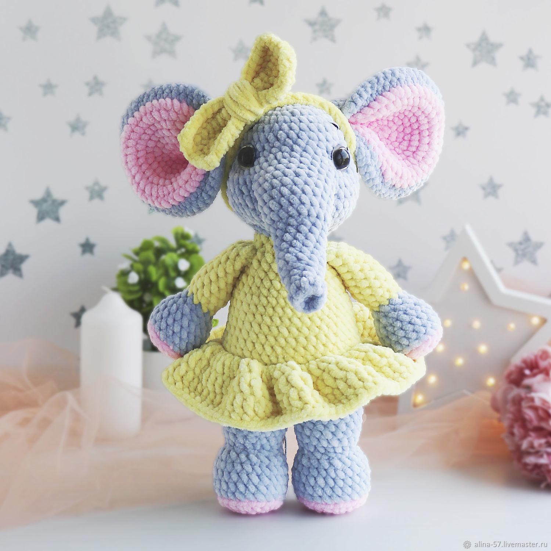 Мягкая плюшевая игрушка Слон, Мягкие игрушки, Азов,  Фото №1