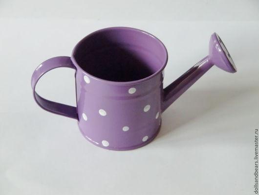 АК-106 Леечка в горошек, фиолетовая, 180руб