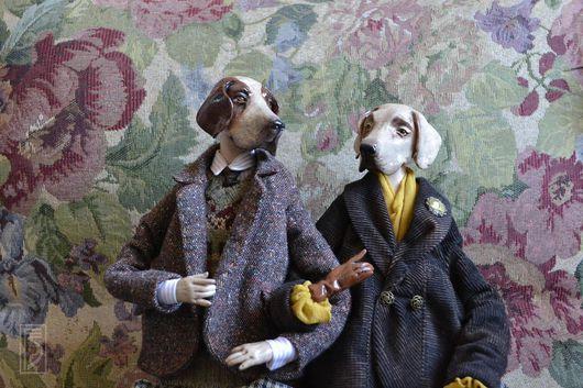 Коллекционные куклы ручной работы. Ярмарка Мастеров - ручная работа. Купить Туманный Альбион. Handmade. Собаки, английский стиль, коричневый