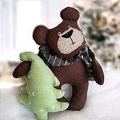 Мишки Тедди ручной работы. Ярмарка Мастеров - ручная работа Мишка с елочкой Мишка игровой. Handmade.