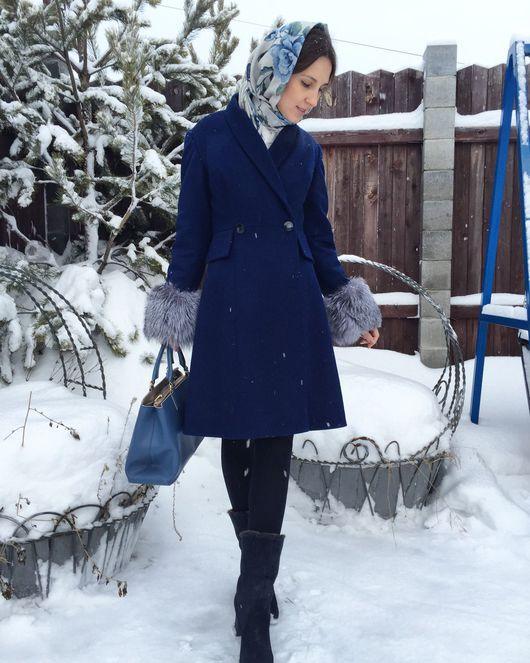 Верхняя одежда ручной работы. Ярмарка Мастеров - ручная работа. Купить Зимнее пальто из шерсти с кашемиром.. Handmade. Зимнее пальто