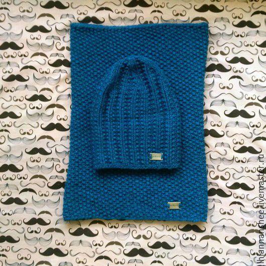 *neЖnost`* ручная работа. Handmade. вязание спицами. снуд и шапка спицами. комплект из шапки и снуда. альпака. женский комплект из альпаки