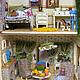 Кукольный дом ручной работы. Домик в зелени. Другой мир. Ксения Сетявина.. Ярмарка Мастеров. Миниатюра, дом, лесной, картон