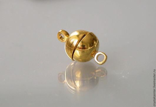 Для украшений ручной работы. Ярмарка Мастеров - ручная работа. Купить Замочек магнитный - цвет золото. Handmade. Металлическая фурнитура