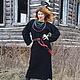 """Платья ручной работы. Платье-туника """"Макошь"""". Марина Смирнова (SMS) вязание. Интернет-магазин Ярмарка Мастеров. Платье, пояс"""