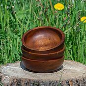 Для дома и интерьера ручной работы. Ярмарка Мастеров - ручная работа Кедровая посуда Чаши 14,5 см набор 3 шт Для пищевых продуктов и пр TN6. Handmade.