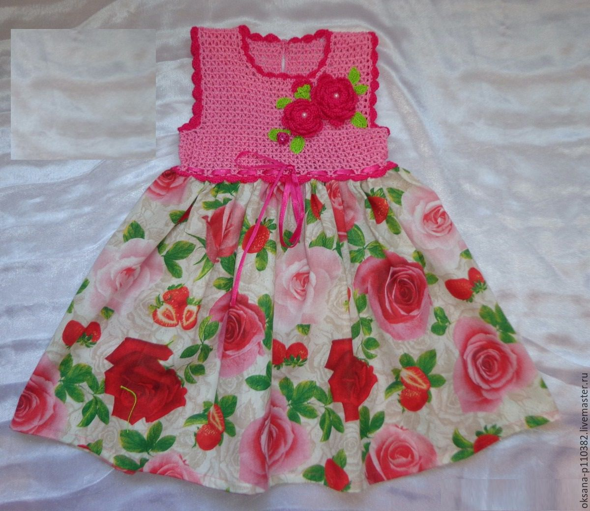 Детские комбинированные платья своими руками